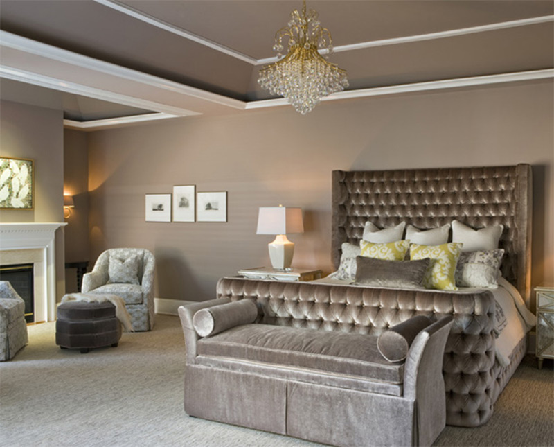 bright master bedroom soft chairs roomy interior
