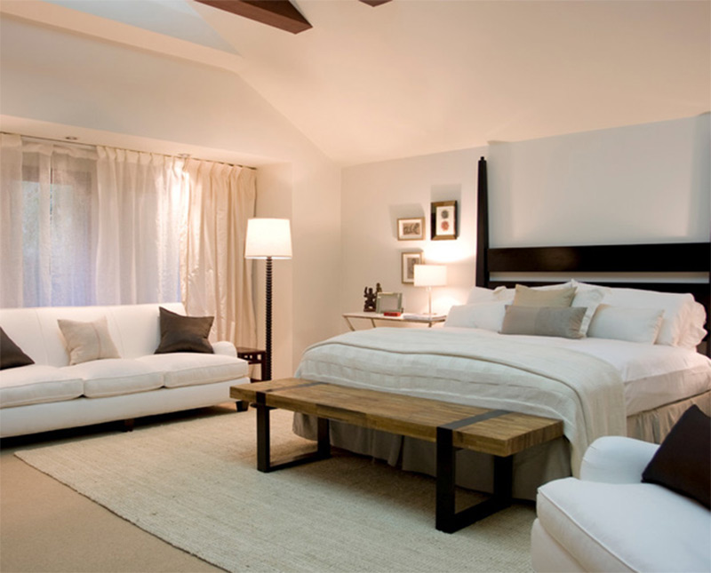 headboard ideas for slanted ceilings - Lovely Bedroom Interiors with Sofas and Couches Full