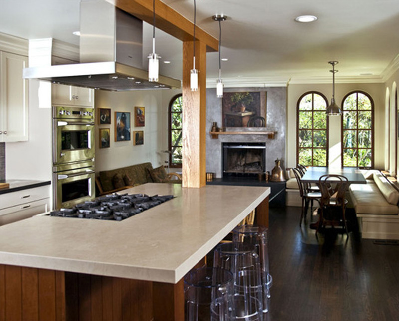 kitchen island with breakfast nook interior photos of kitchens and breakfast nooks 8240