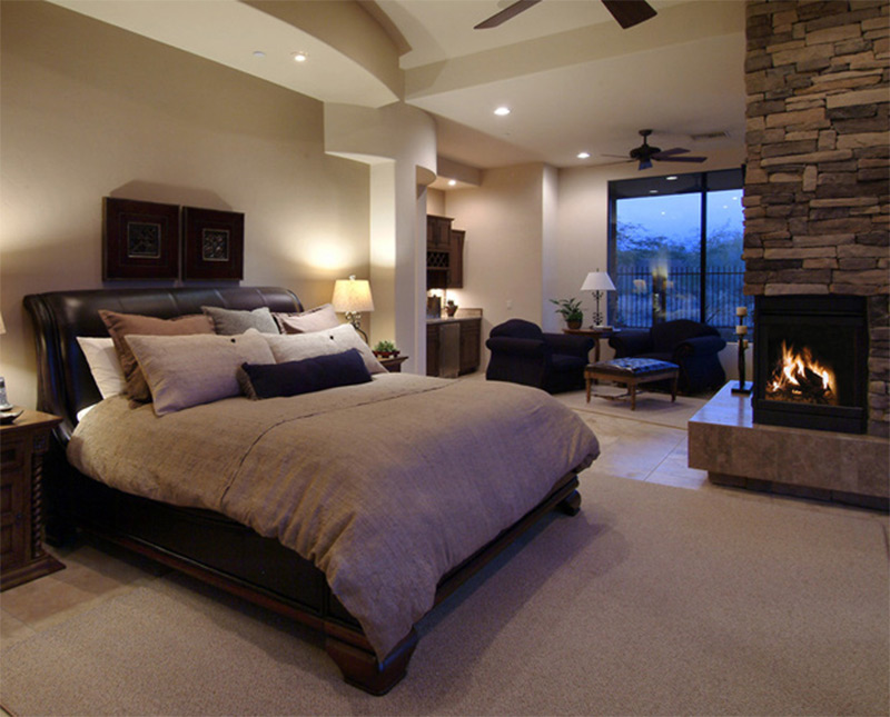 master bedroom drink bar chairs lounge fireplace comfortable