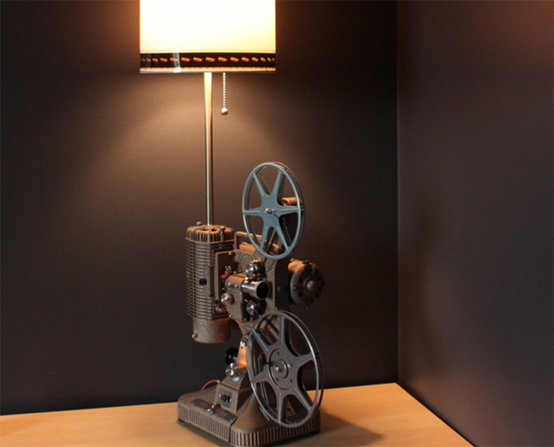 home theater decor table lamp 35mm filming handmade