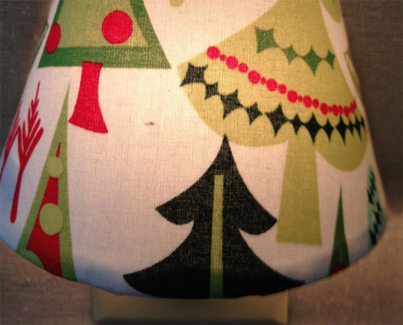 christmas tree pattern lamp nightlight shade