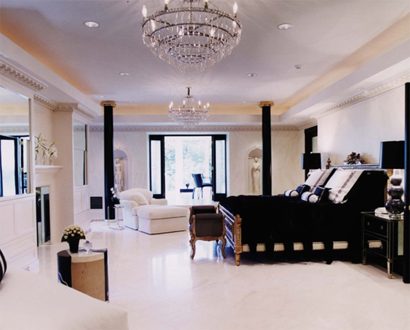 chicago illinois big white bedroom luxurious wealthy