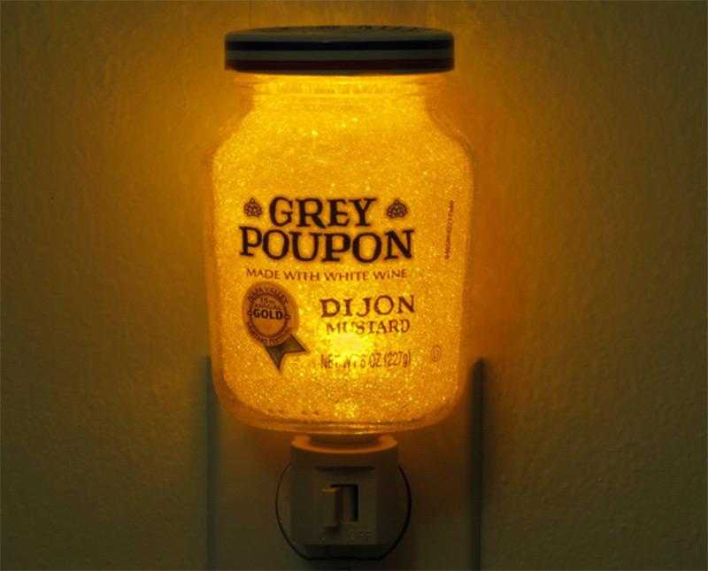 fancy grey poupon jar nightlight accent etsy