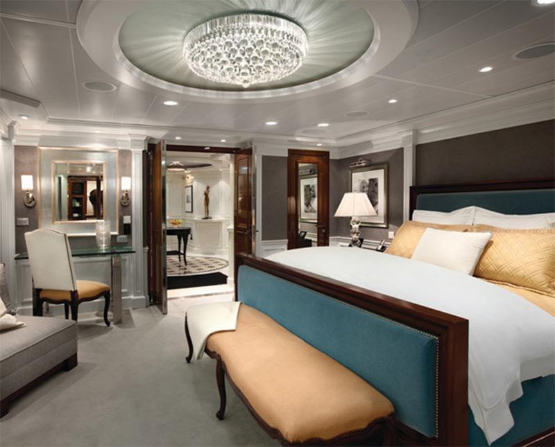 oceania riviera interior luxury wealthy bedroom comfy
