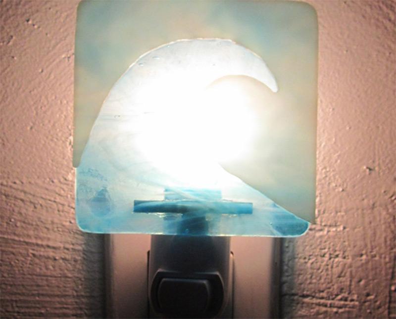 water ocean wave design pattern nightlight etsy