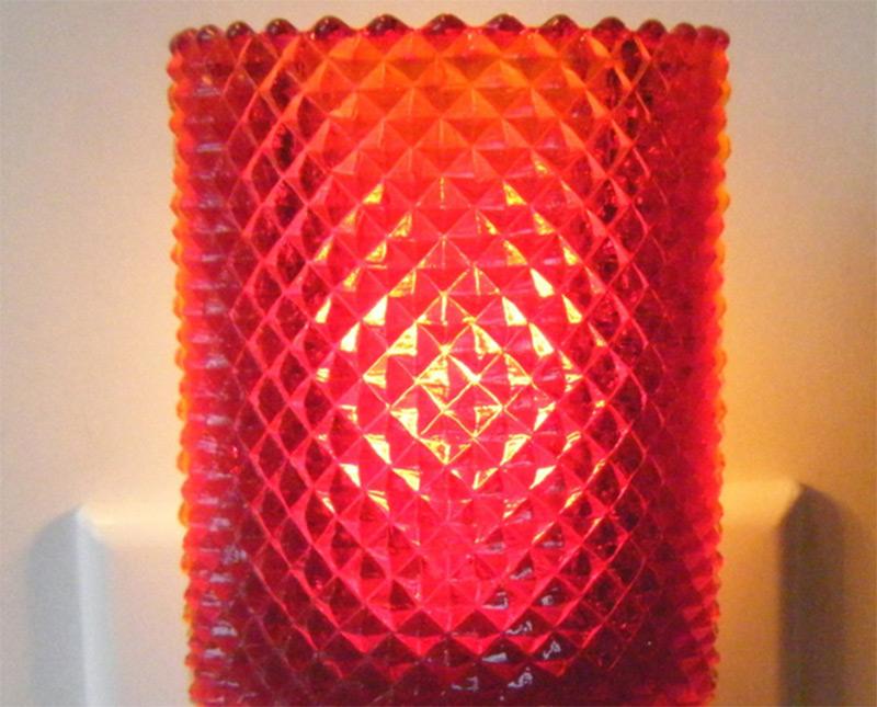 red votive candleholder design nightlight etsy