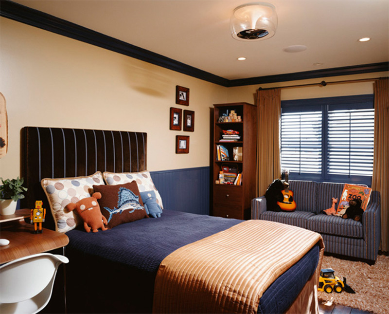 contemporary boys bedroom interior los angeles california